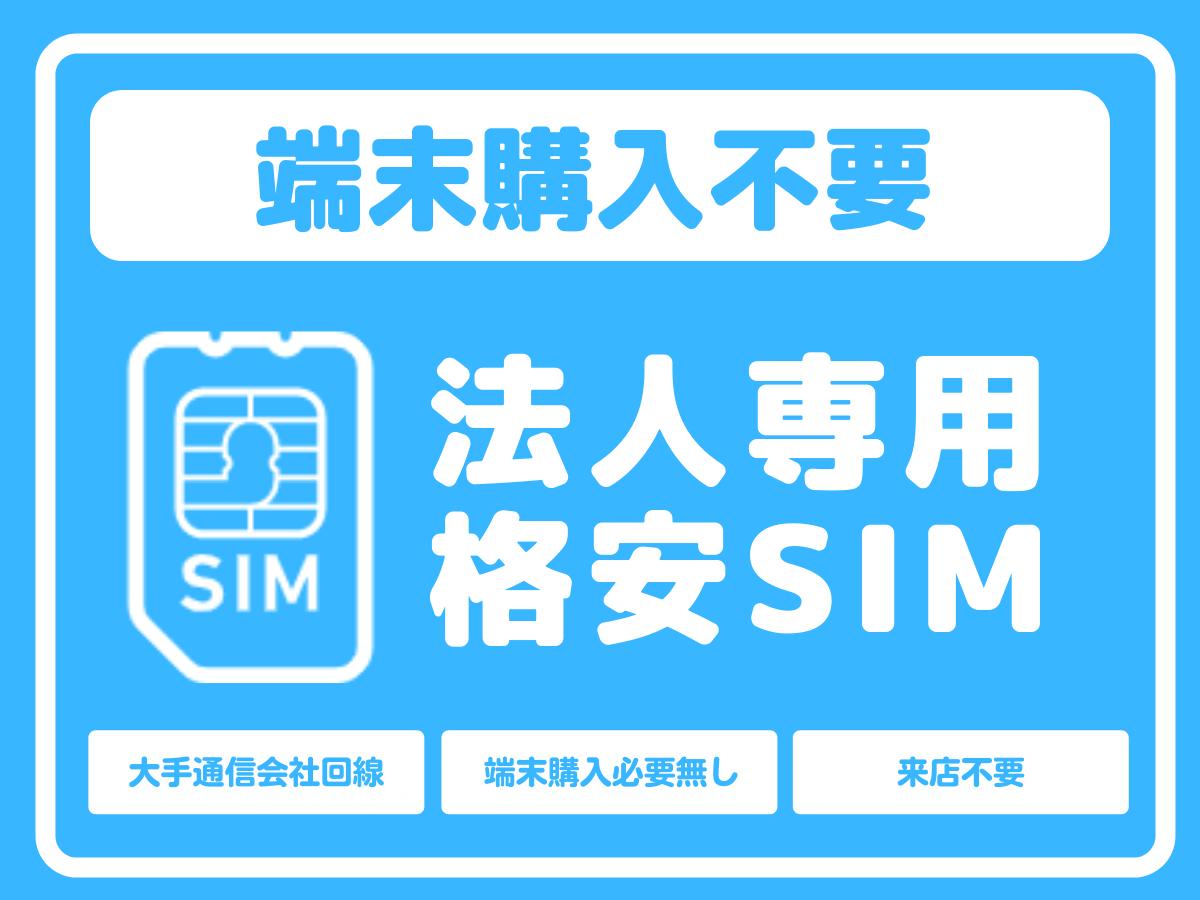 法人格安SIM